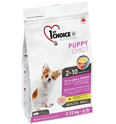1st Choice Puppy - Healthy Skin & Coat - Toy & Small Breeds, 2.72 kg