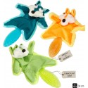 Plüüsist mänguasi koerale FUNKY TAIL, piiksuv, krabisev, termoplastilisest kummist sabaga