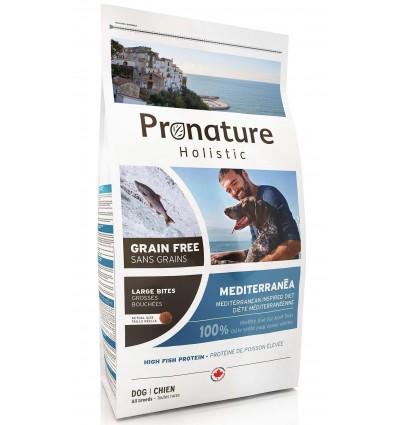 Pronature Holistic MEDITERRANÉA - suurte graanulitega, teraviljavaba kuivtoit koertele, menhedeni kala ja lõhega