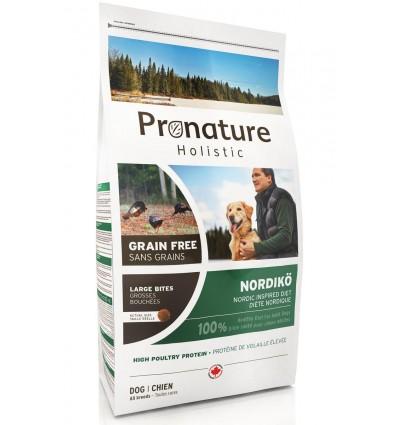 Pronature Holistic NORDIKÖ - suurte graanulitega, teraviljavaba kuivtoit koertele, kodulinnulihaga koeratoit