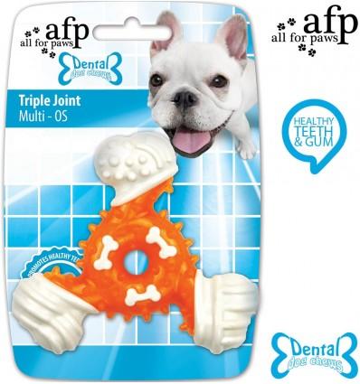Hambaid ja igemeid hooldav mänguasi koerale Dental Triple Joint (AFP - Dental Dog Chews)