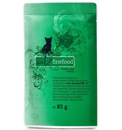 Classic N°15 KANA- ja FAASANILIHAGA (70%), teraviljavaba kassieine kotike (Catz Finefood)