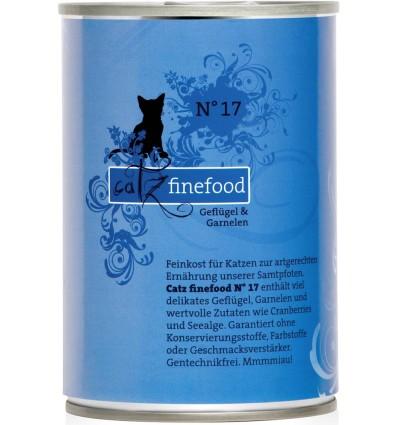 Classic N°17 KODULINNULIHA ja TIIGERKREVETTIDEGA (70%), teraviljavaba konservtoit kassidele (Catz Finefood)