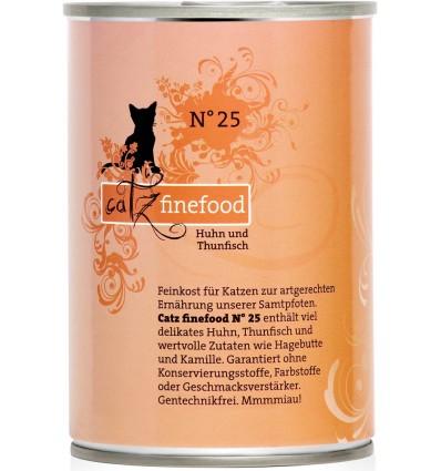 Classic N°25 KANALIHA ja TUUNIKALAGA (70%), teraviljavaba kassikonservid (Catz Finefood)