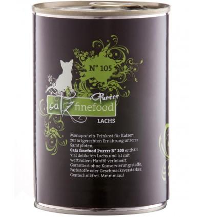 Purrrr N°105 LÕHEGA (70%), teraviljavaba konserv kassidele (Catz Finefood)
