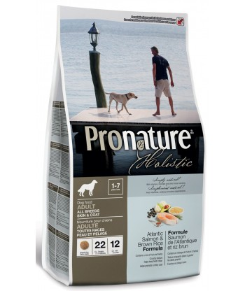 Pronature Holistic Atlandi lõhe ja pruuni riisiga naturaalne täistoit koertele