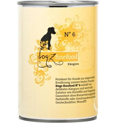 Classic N° 6 KÄNGURULIHAGA (65%), teraviljavaba konservtoit koerale (Dogz Finefood)