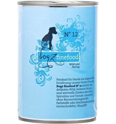 Classic N° 12 ULUKILIHA JA HEERINGAGA (65%), teraviljavaba koerakonserv (Dogz Finefood)