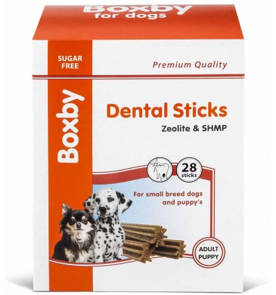 Maius väikest tõugu koerale hambahoolduseks Boxby Dental Sticks Zeolite & SHMP