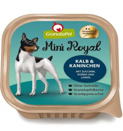 Mini Royal koeraeine kausike VASIKA- ja JÄNESELIHAGA, teraviljavaba koerakonserv (Granata Pet)