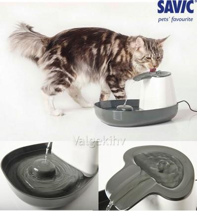 Jooginõu voolava veega - purskkaev CASCADE kassile või väikesele koerale (Savic)