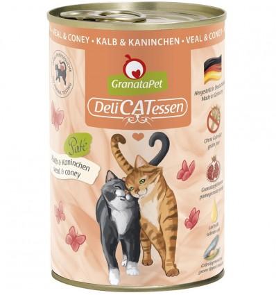 DeliCatEssen vasika- ja jäneselihaga kassikonserv kassidele (teraviljavaba)