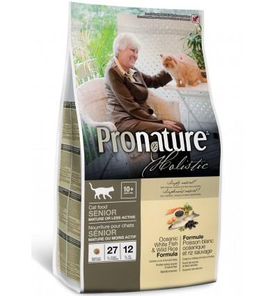 Kassile - Pronature Holistic valge ookeanikala ja vesiriisiga naturaalne täistoit eakatele kassidele