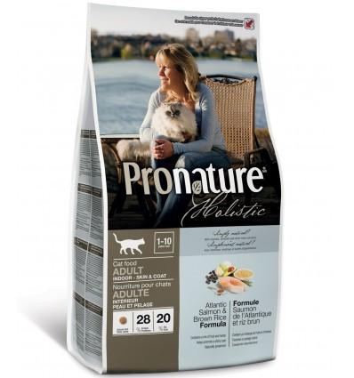 Kassile - Pronature Holistic Atlandi lõhe ja pruuni riisiga naturaalne täistoit kassidele