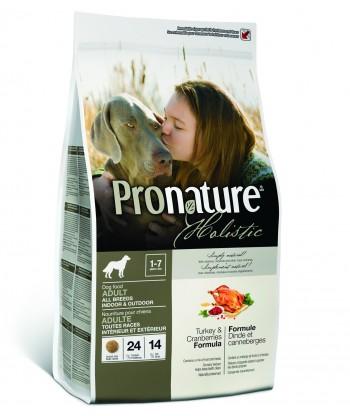 Pronature Holistic kalkuniliha ja jõhvikatega naturaalne täistoit koertele