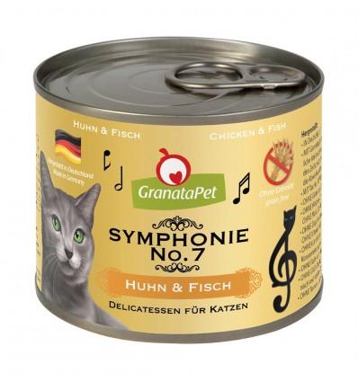Symphonie No. 7 KANALIHA ja KALAGA TERAVILJAVABA delikatesskonserv kassidele NATURAALSES ŽELEES