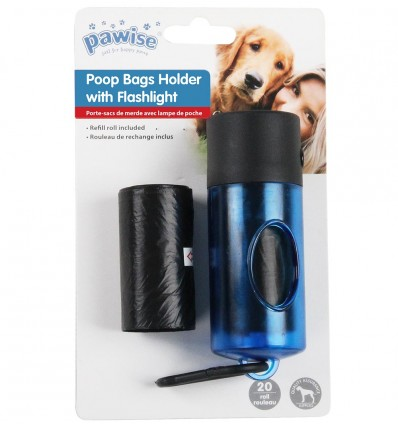 Kakakoti hoidja - taskulamp Poop Bags Holder With Flashlight (Pawise)
