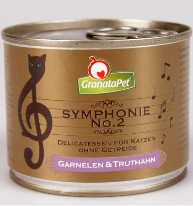Symphonie No. 2 KREVETTIDE JA KALKUNILIHAGA TERAVILJAVABA delikatesskonserv kassidele NATURAALSES ŽELEES