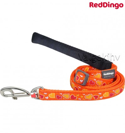 Jalutusrihm koerale, disainmustriga Breezy Love Orange (Red Dingo)