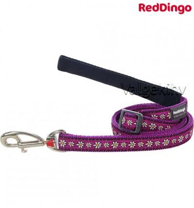 Jalutusrihm koerale, disainmustriga Daisy Chain Purple (Red Dingo)