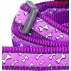 Jalutusrihm koerale, disainmustriga Flying Bones Purple (Red Dingo)