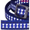 Jalutusrihm koerale, helkurmustriga Reflective Bones Dark Blue (Red Dingo)