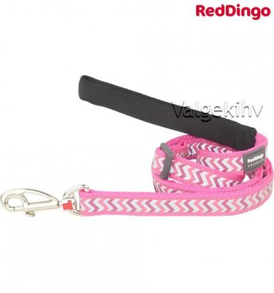 Jalutusrihm koerale, helkurmustriga Reflective Ziggy Hot Pink (Red Dingo)
