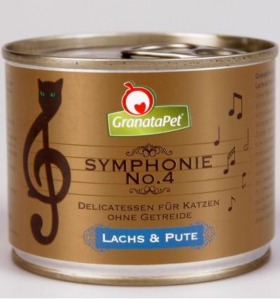 Symphonie No. 4 TERAVILJAVABA delikatesskonserv kassidele LÕHEFILEE JA KALKUNILIHAGA NATURAALSES ŽELEES