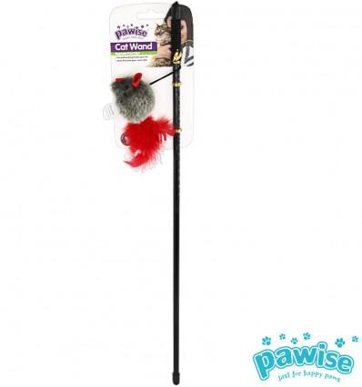 Mänguasi kassile ridvaga hiir, häälega Cat Wand (Pawise)