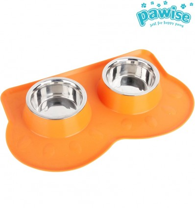 Keraamiline topelt-kauss kassile Double Pet Feeders (Pawise)