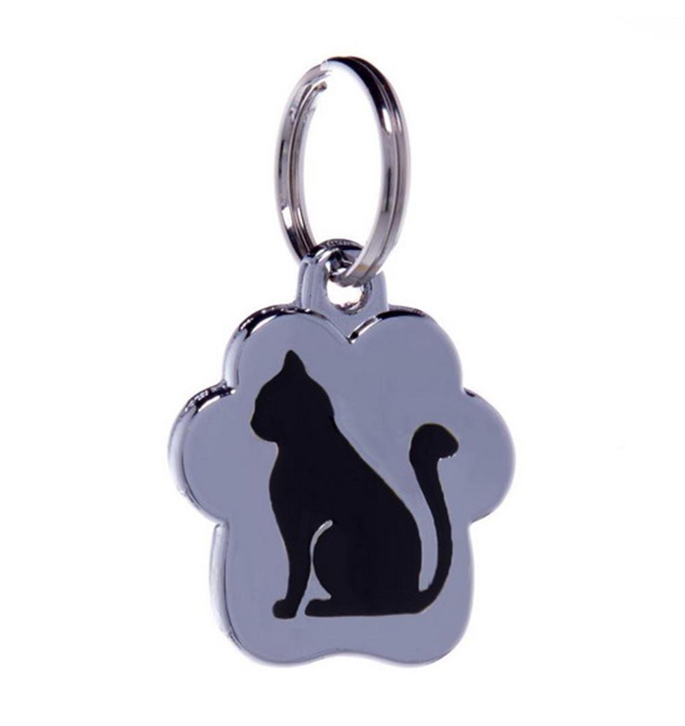 Kass istuv (must) - läikiv